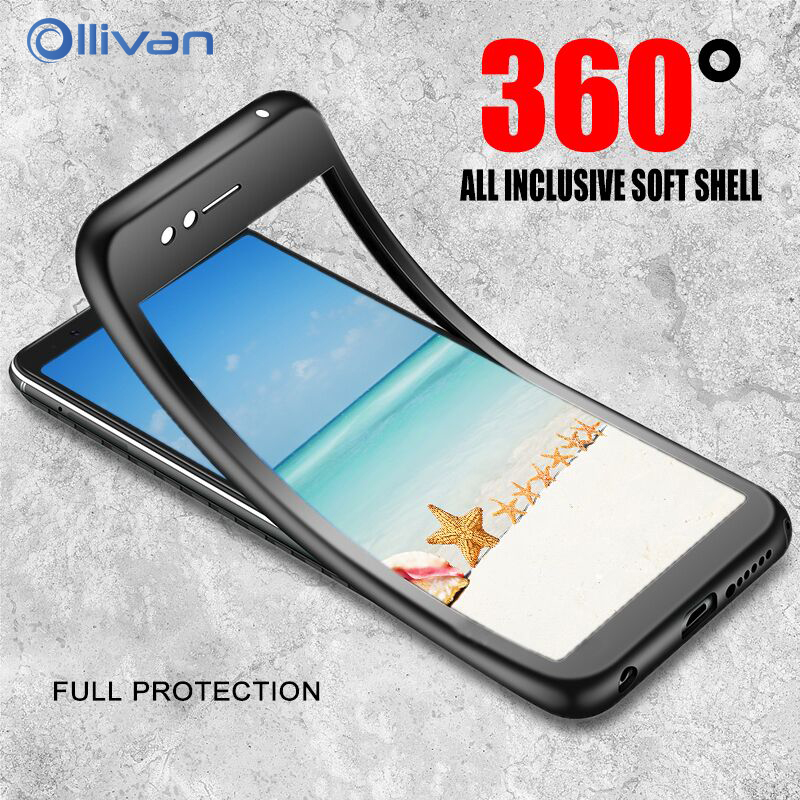OLLIVAN 360 Protection Soft Full Cover For font b Samsung b font A7 A8 A6 2018