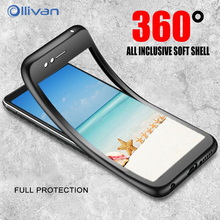 OLLIVAN 360 Protection Soft Full Cover For Samsung A7 A8 A6 2018 TPU Silicone Case For Samsung J4 J6 J7 J8 J2 Pro Case No Glass