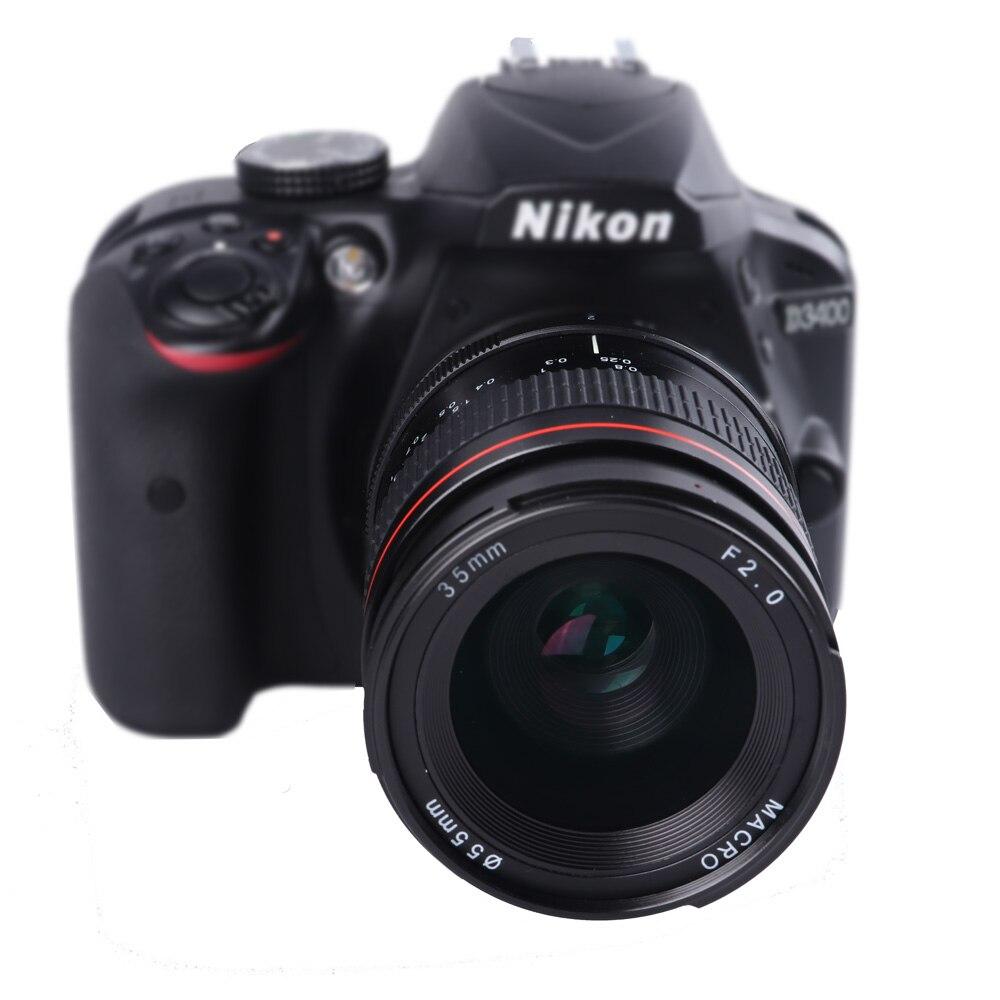 Lightdow 35mm F2.0 Mise Au Point Fixe à Grande Ouverture Objectif Manuel Pour Nikon D850 D7300 D7100 D750 D610 D3400 D5100 D5200 D80 D90 D5300
