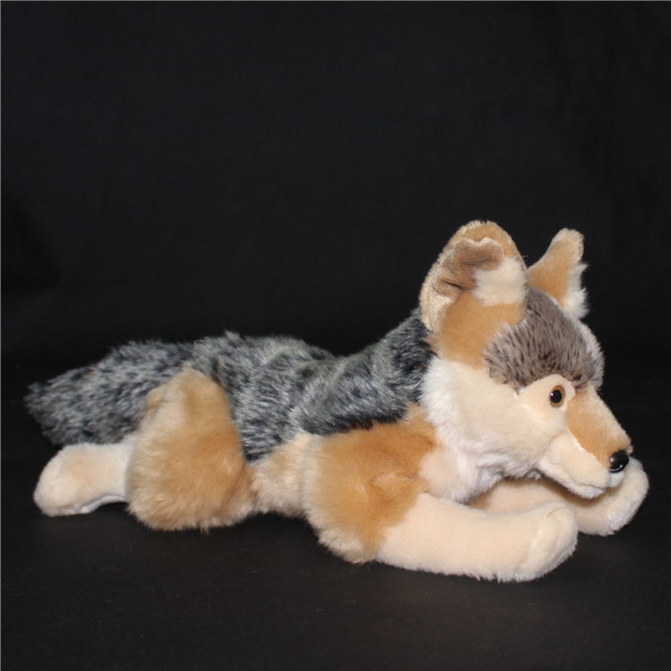Simulation Children'S Toy Gift Coyote Doll Cute Prairie Wolf  Wildlife  Plush Toys  North American Wolves stuffed animal 44 cm plush standing cow toy simulation dairy cattle doll great gift w501