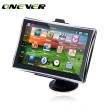 Onever 7 inch GPS Navigation FM 4GB/128M DDR/800MHZ Map Free Upgrade Russia/Belarus/Spain/ Europe/USA+Canada/Israel navigator(China)