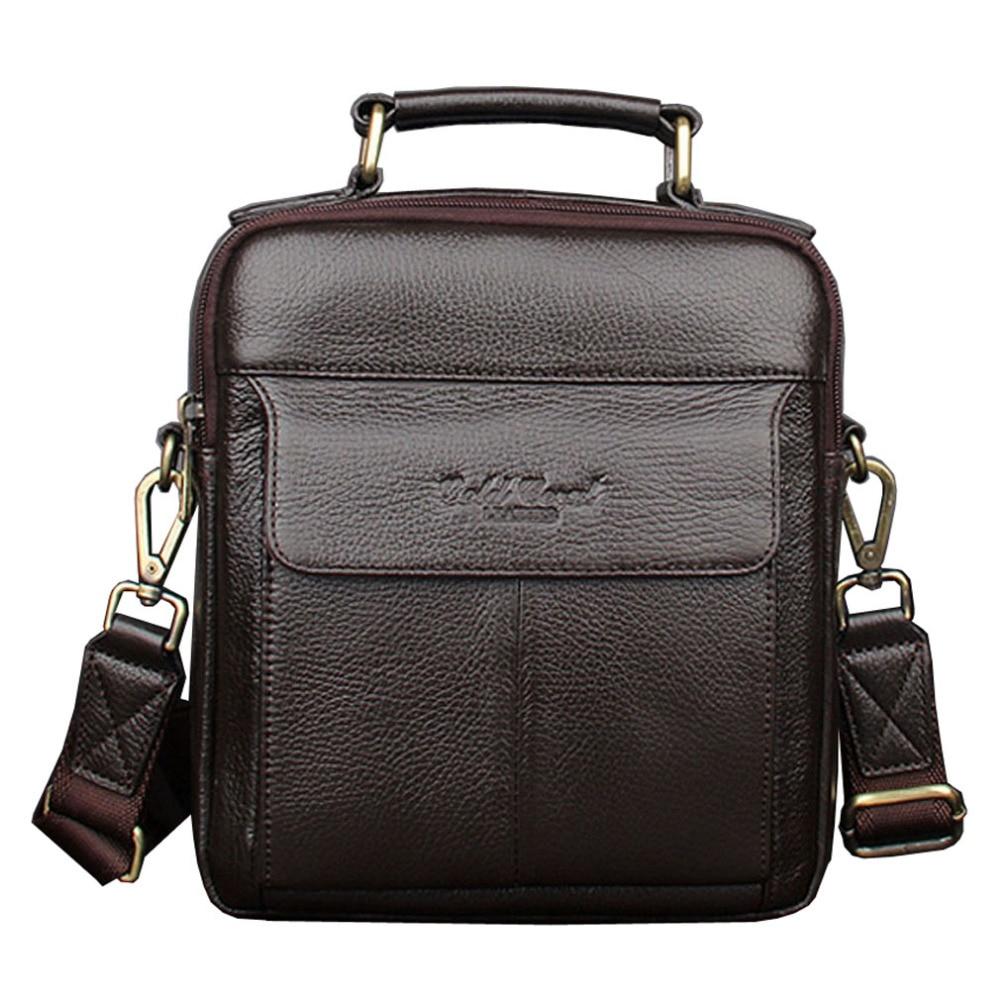 Hot sale men s messenger bags genuine leather handbags Famous brand men fashion casual shoulder bags