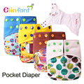 Elinfant 1 pcs cloth diaper baby nappy with pocket fast dry summer high quality fit baby 8-35 pounds #SMT051#