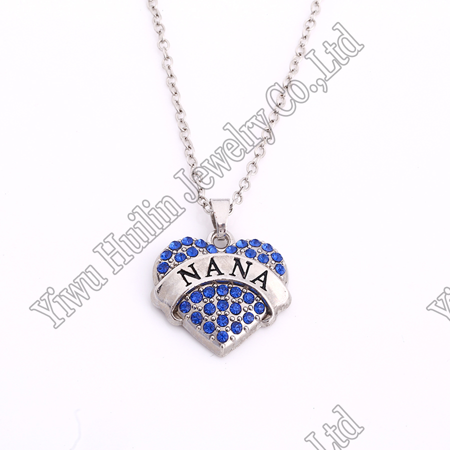 birthstones product me call greatest nana my blessings silver with necklace