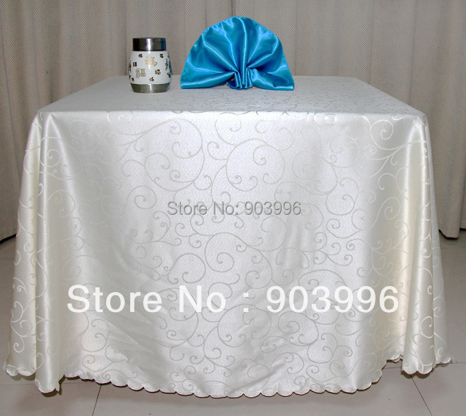 Round-300cm-Hotel cloth table cloth restaurant tablecloth art antependium fabric