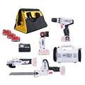 5 pedaço newone/KEINSO 12-Poder Volt Lithium-Ion Cordless Combo Kit Power Tool Combinação 5- kit de Combinação ferramenta 2.0Ah Bateria Com Saco