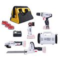 5 stuk newone/KEINSO 12-Volt Lithium-Ion Accu Power Combo Kit Power Tool Combinatie 5- tool Combo Kit 2.0Ah Batterij Met Zak