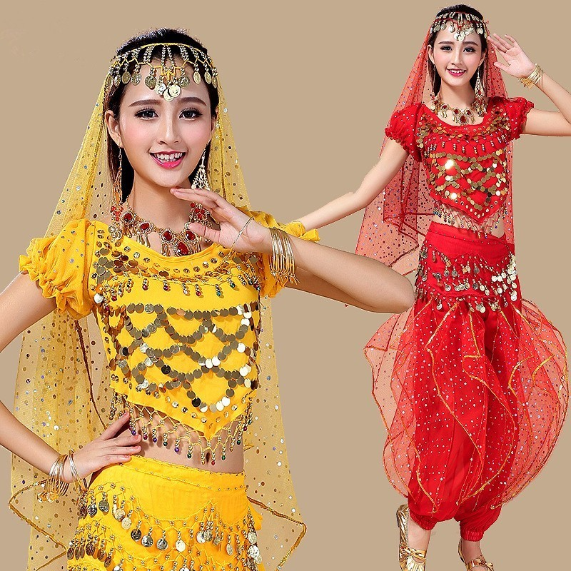 professional costume set egyptian belly dance dress clothes costumes adult bellydance woman bollywood pants for women dresses