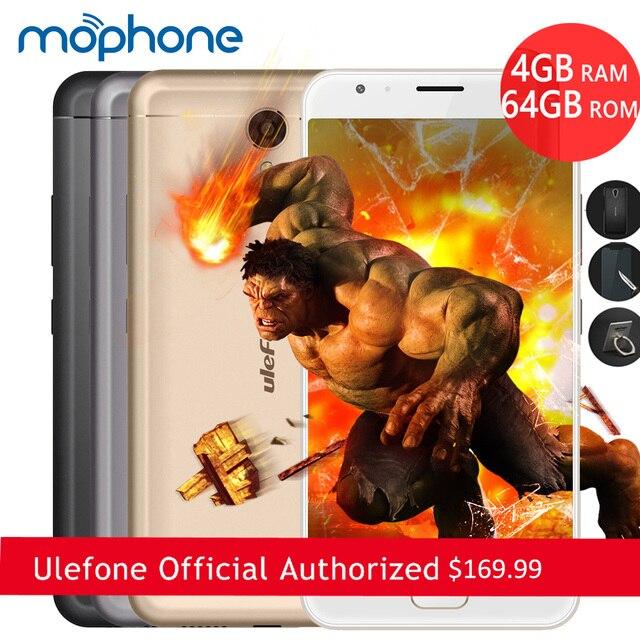 Ulefone мощность 2 смартфон 4 г 5.5 дюймов 1920*1080 пикселей mtk6750t окта-ядерный android 7.0 4 ГБ + 64 ГБ dual фотоаппараты 6050 мАч мобильного телефона