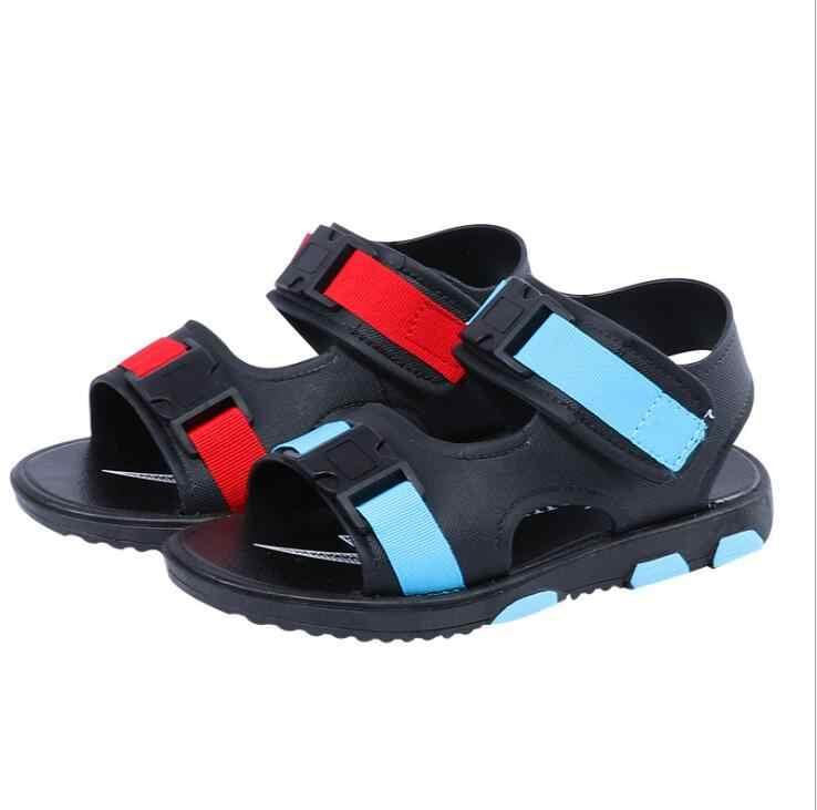 รายชื่อใหม่ 2019 ฤดูร้อนเด็กใหม่รองเท้าสบายๆลื่นรองเท้าชายหาดนุ่มด้านล่างเด็กรองเท้าแตะเด็กนักเรียนรองเท้า