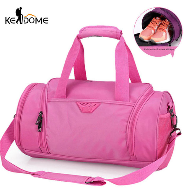 b520c4b0a0 Sports Bag for Women Fitness Gym Bag Shoes Basketball Storage Tote Training  Shoulder Crossbody Bags Travel Duffle PINK XA358WD