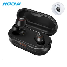 Mpow T5/M5 TWS Earphones Bluetooth 5.0 Wireless Earbuds IPX7 Waterproof Headset 36H Play Time Support Aptx for Xiaomi iphone