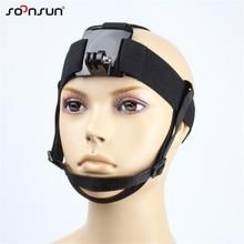 SOONSUN tête sangle de montage tête harnais de montage ceinture avec mentonnière pour GoPro Hero 7 6 5 4 3 2018 pour SJCAM pour Xiaomi Yi accessoire