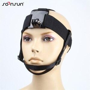 Image 1 - Крепление на голову SOONSUN, крепление на голову, ремень с подбородком для GoPro Hero 7, 6, 5, 4, 3, 2018, аксессуары для SJCAM, Xiaomi Yi