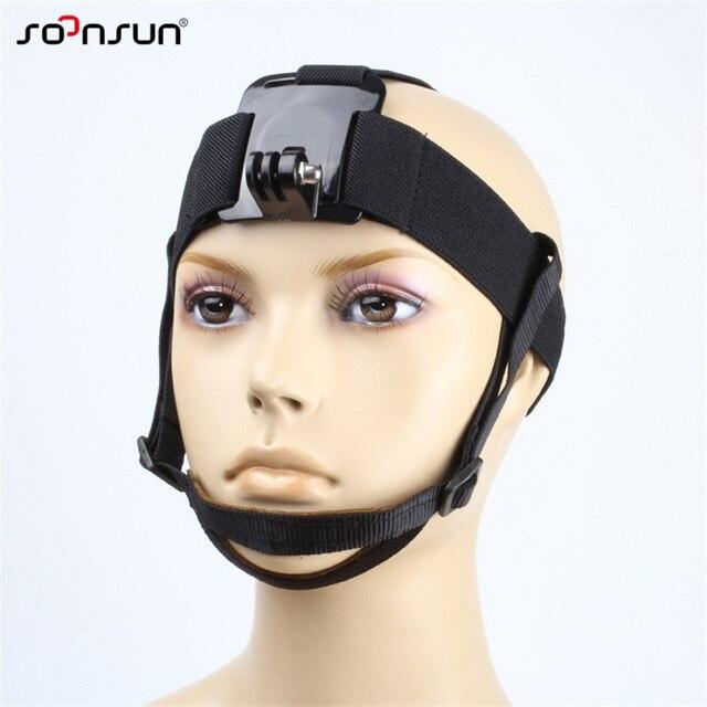 Крепление на голову SOONSUN, крепление на голову, ремень с подбородком для GoPro Hero 7, 6, 5, 4, 3, 2018, аксессуары для SJCAM, Xiaomi Yi