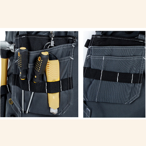 Image 4 - 2020 New Men Working Pants Multi Pockets Work Trousers With Removable Eva Knee Pads Top Quality Worker Mechanic Cargo Work Pants