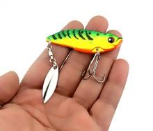 40PCS/lot Metal VIB Long Shot Reflective Fishing False Lure 6cm/20g Bionic Sequin Hard Bait 3D Glasses Tackle Fish