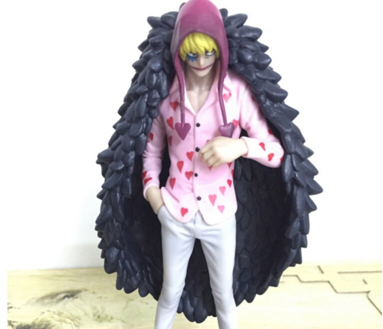 Tobyfancy One Piece Corazon Figure DXF PVC 170mm Onepiece Action Figures Anime Toys Doflamingo Brother Model Toy Gifts