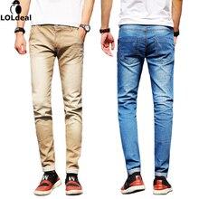 Loldeal Brand Men Jeans Size 28 to 38 Black Blue Stretch Denim Slim Fit Men Jean for Man Pants Trousers Jeans(asian size)