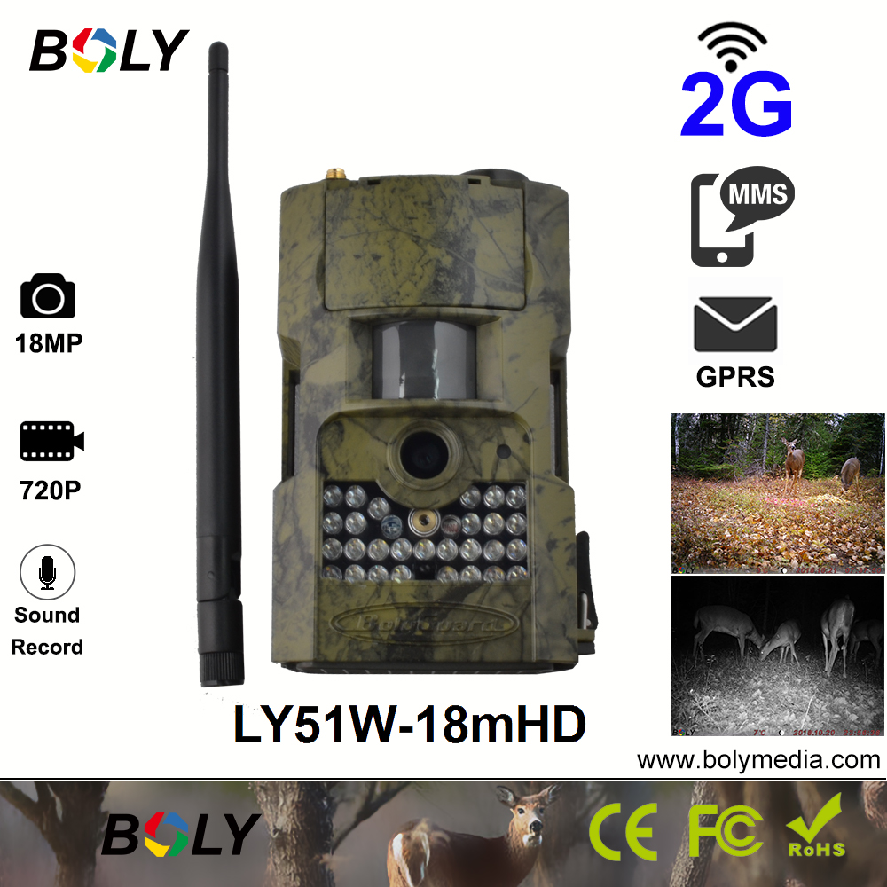 2G hunting cameras invisible IR scout camera MMS GPRS game cam photo trap 18MP 720P video support sound recording