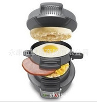 220 V Mini sandwich Toaster Breakfast Baking Machine Automatic Hamburger Kettle Bacon Egg Frying Pan Kitchen Appliances