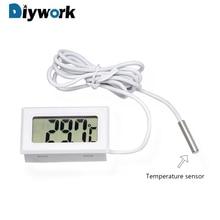 цена на DIYWORK Temperature Gauge Meter LCD Display Digital Mini Car Thermometer For Fish Tank Refrigerator