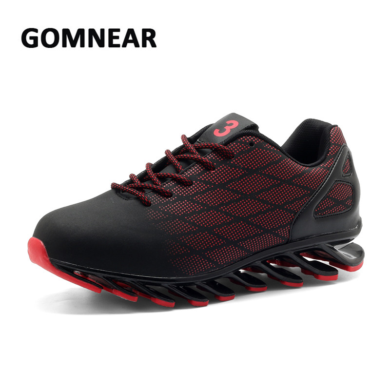 GOMNEAR Men's Running Shoes Men Summer Sneakers Outdoor Blade Damping Wear-resistant Walking Shoes Breathable Jogging Boots