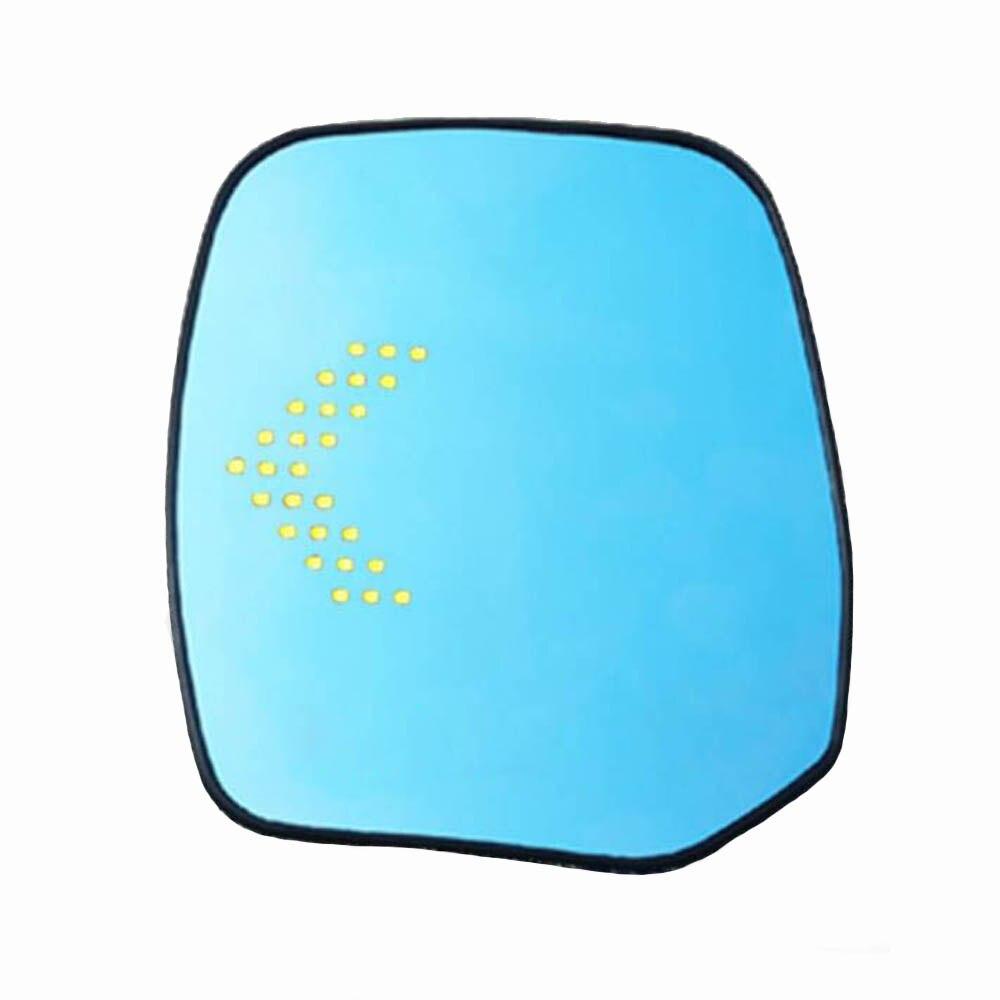 LED rétroviseur latéral de voiture en verre anti-buée éblouissant bleu large angal clignotant lampe chauffée pour Nissan Patororu patrouille