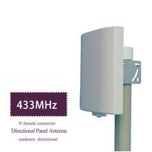 Antenne directionnelle UHF 433MHz antenne directionnelle 423 ~ 443MHz panneau de brassage mural antenne plate antenne Lorawan NB IOT