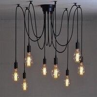 Nordic Vintage Chandelier Lamp Pendant Lamps E27 E26 Edison Creative Loft Art Decorative Chandelier Light Chandeliers