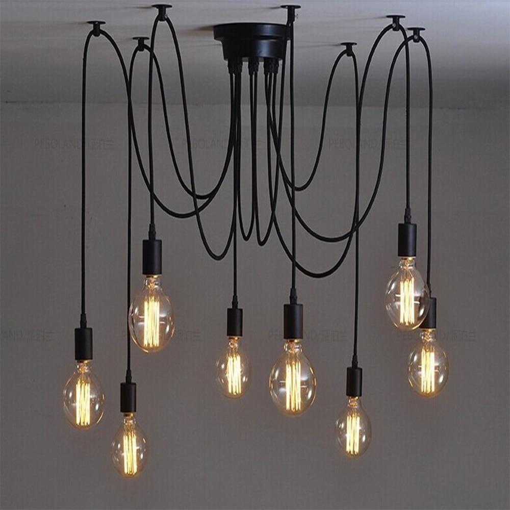 ФОТО nordic vintage Chandelier Lamp Pendant Lamps E27 E26 Edison Creative Loft Art Decorative Chandelier Light chandeliers ceiling