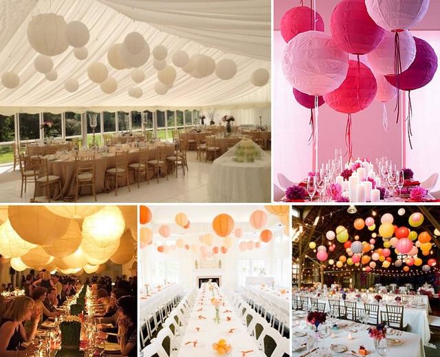 Whole 10 30cm Paper Lanterns Lamp Chinese Lantern Party Wedding Decoration 3 Sizes