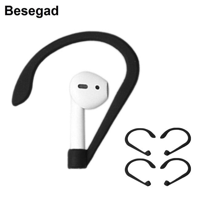 8a53f60c30d Besegad 2 Pairs Anti-lost In-Ear Eartips Earbuds Earpods Earphone Earhook  Hook Holder