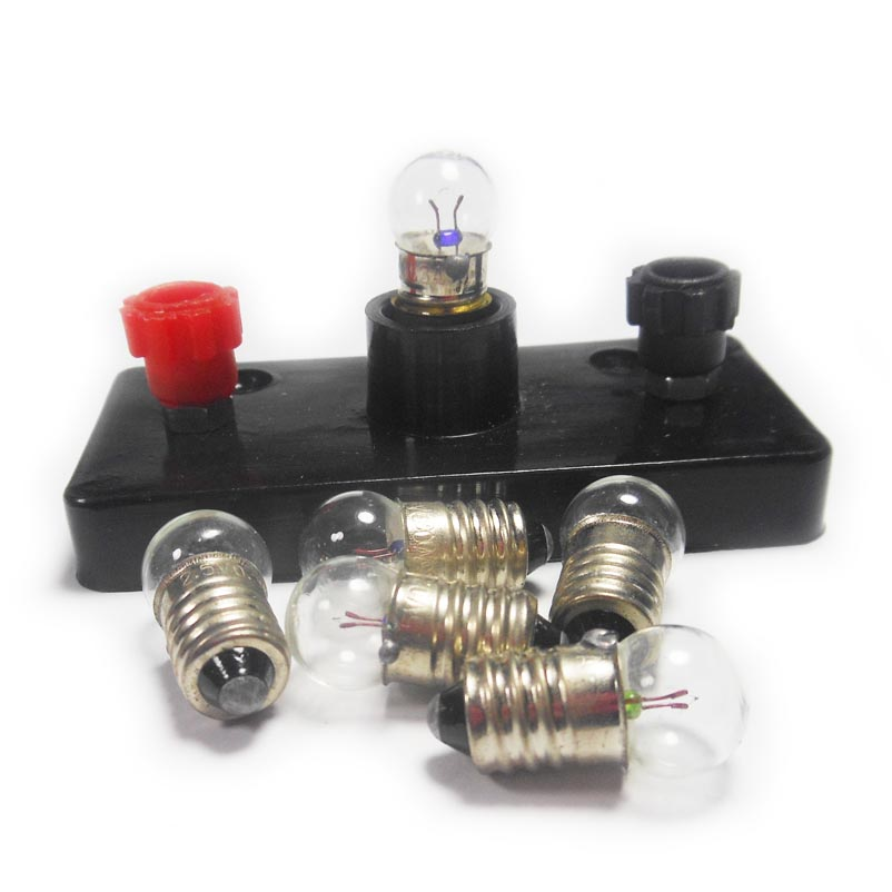 Popular 50PCS/LOT 2.5V / 3.8V 0.3A Light Beads School Physical Electric Experiment Mini Lamp Small Bulb