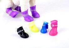 FD01 4pcs/set Dog Shoes Pet Shoes Pet Boots Anti Slip Skid Waterproof Rain boots free shipping