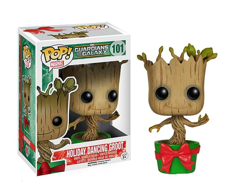 New Funko POP Moive Guardians of the Galaxy 2 Baby Tree Action Figure Model PVC Action Figure Collection Model Toys Gifts  10cm funko pop guardians of the galaxy groot pvc action anime figure doll shake bobble head groot tree man kids toys