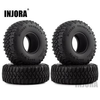 "INJORA 4Pcs 1.55"" Soft Rubber Wheel Tires 1.55 Inch Tyre for RC Crawler Car D90 TF2 Tamiya CC01 LC70 LC80 1"