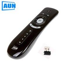 AUN מיני אוויר עכבר 2.4G אלחוטי שלט רחוק, מובנה 6 ציר עבור PC, אנדרואיד טלוויזיה תיבה, אנדרואיד מקרן תנועת חישה גיימר, P