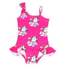 2019 New Toddler Unicorn children swimsuit for girl one piece baby girls unicorn kid bathing suit swimming costume 0333