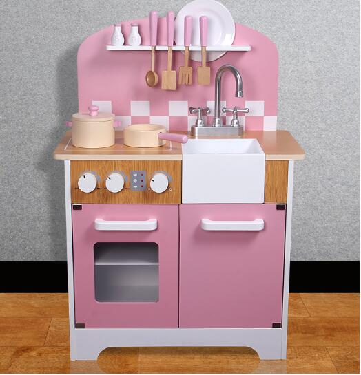 Play House toys Kitchen Toys Children Play Toys Large size pink style  Cooking rice Simulation Table Model Utensils Toy for sale
