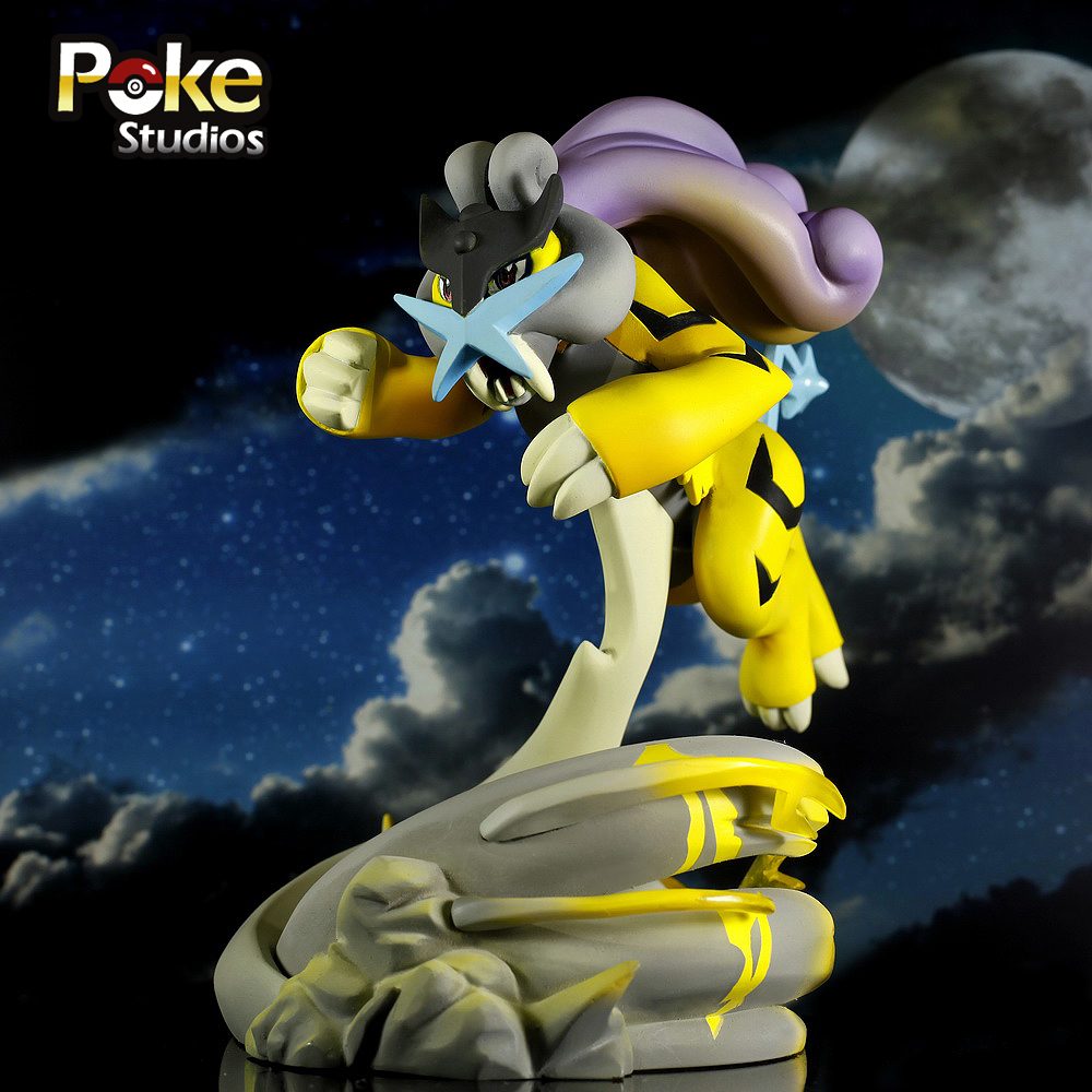 MODEL FANS IN-STOCK Genuine poke studios 14cm pokemon Raikou GK resin made figure toy for Collection model fans in stock 23cm pokemon snorlax gk resin made figure toy for collection