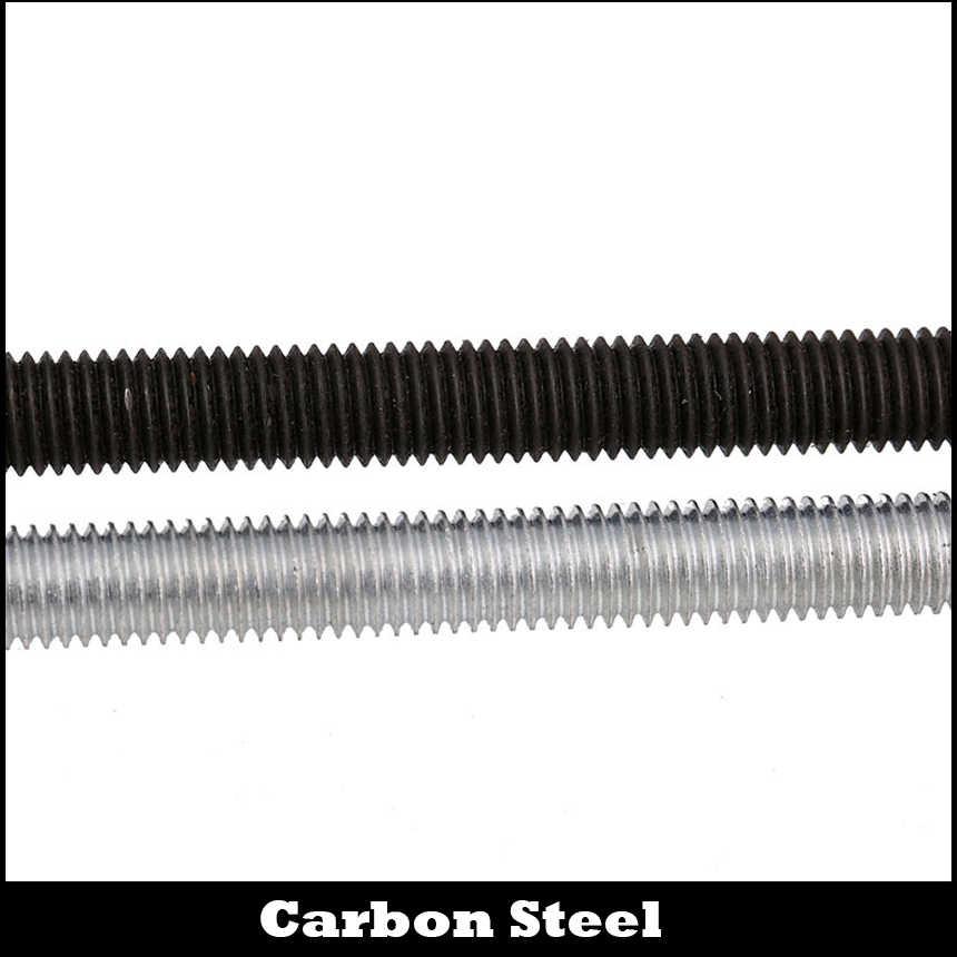 Metric Thread Fully Thread 300mm Long Rod Stud Bar Mild Steel black Plated