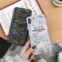 Tide brand cartoon iPhone XSmax mobile phone shell XR Sesame Street protective case X/7plus/6 soft edge sets