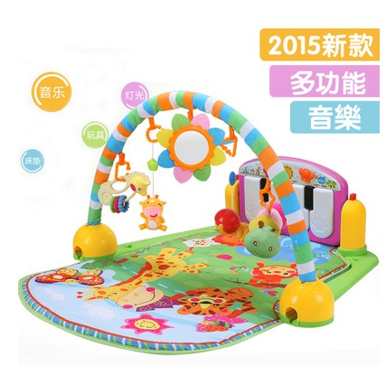 Baby baby crawling mat multi-function acousto-optic fitness play on piano frame game blanket toys in infants fitness rack baby music electric game blanket newborn baby game blanket toys with remote control