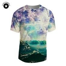 5b9bb50c00d8 Landschaft Wald Malerei 3D Druck Männer Frauen T-shirt Sommer Lässige Quick  Dry Tees Harajuku Tops Herren Kurze hülse T-shirt