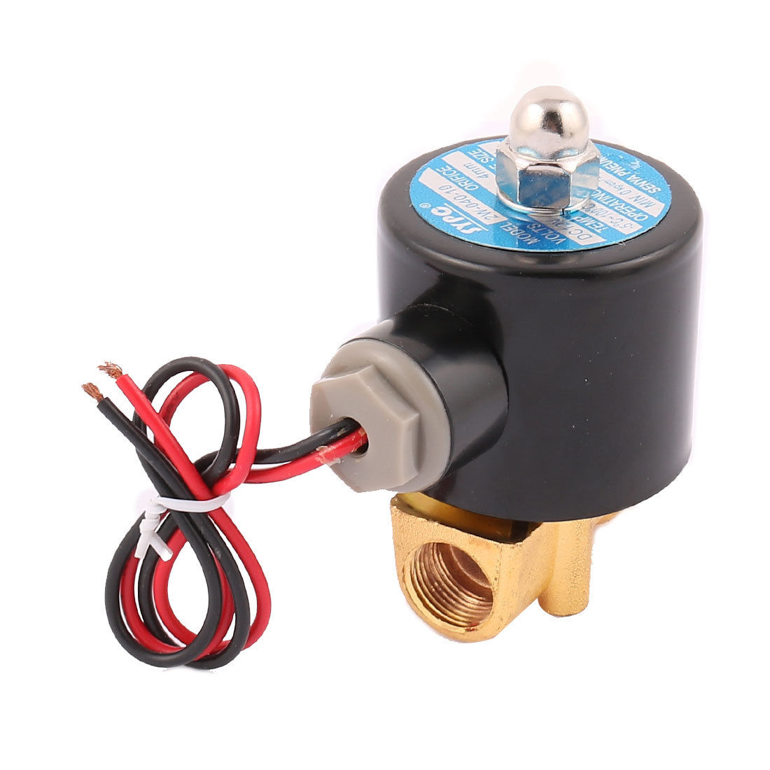 Air, Water, Oil Pneumatic Solenoid Valve 2W040-10 3/8 3 8 electric solenoid valve water air n c all brass valve body 2w040 10 dc12v ac110v