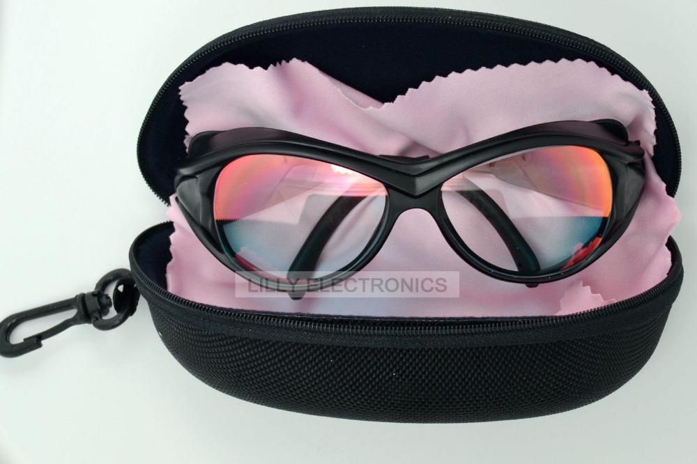 Protection Goggles Glasses Eyewear For 808nm Laser 700-900nm With Black Frame