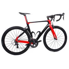 Sam znajdź najtańsze loty albo chiński Aero pełna węgla kompletny rower szosowy wysokiej jakości 700C rower szosowy z włókna węglowego pełna węgla rowerów tanie tanio 145-193 cm V hamulca hamulec tarczowy Ropy naftowej i gazu widelec (sprężystości powietrza olej tłumienia) 7 5 kg Zwyczajne pedału