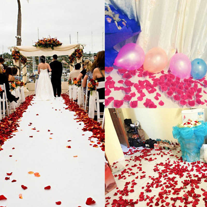 500 шт Поддельные Лепестки розы свадебные украшения Шелковый лепесток Искусственные цветы невесты быть девичник вечерние украшения домашний декор