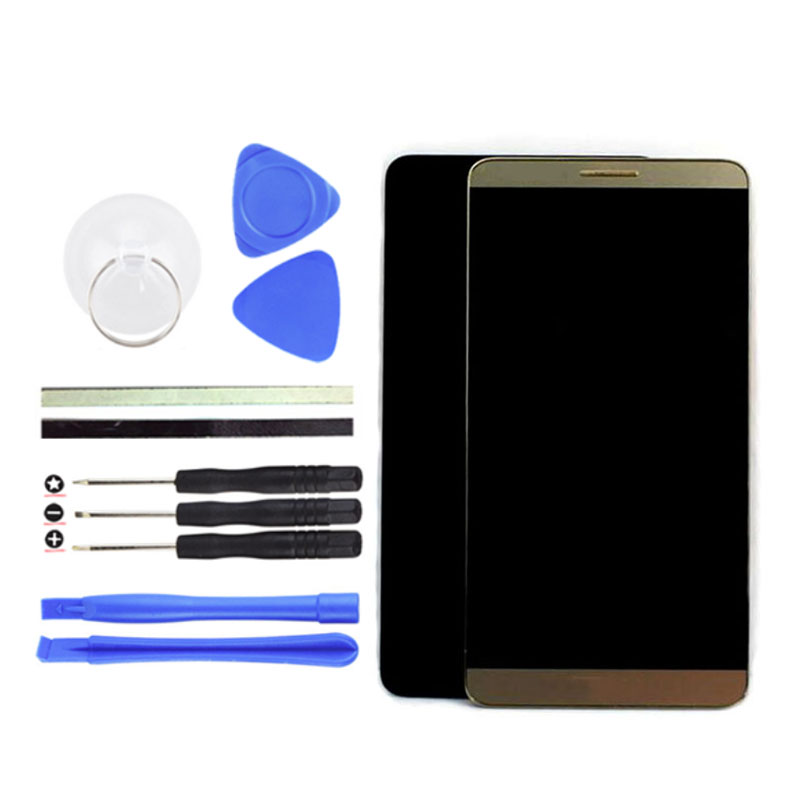 LCD Display + Touch Screen Digitizer 6inch For Huawei Mate 8 with white/ black /gold replacement cell phone parts+Free Tools